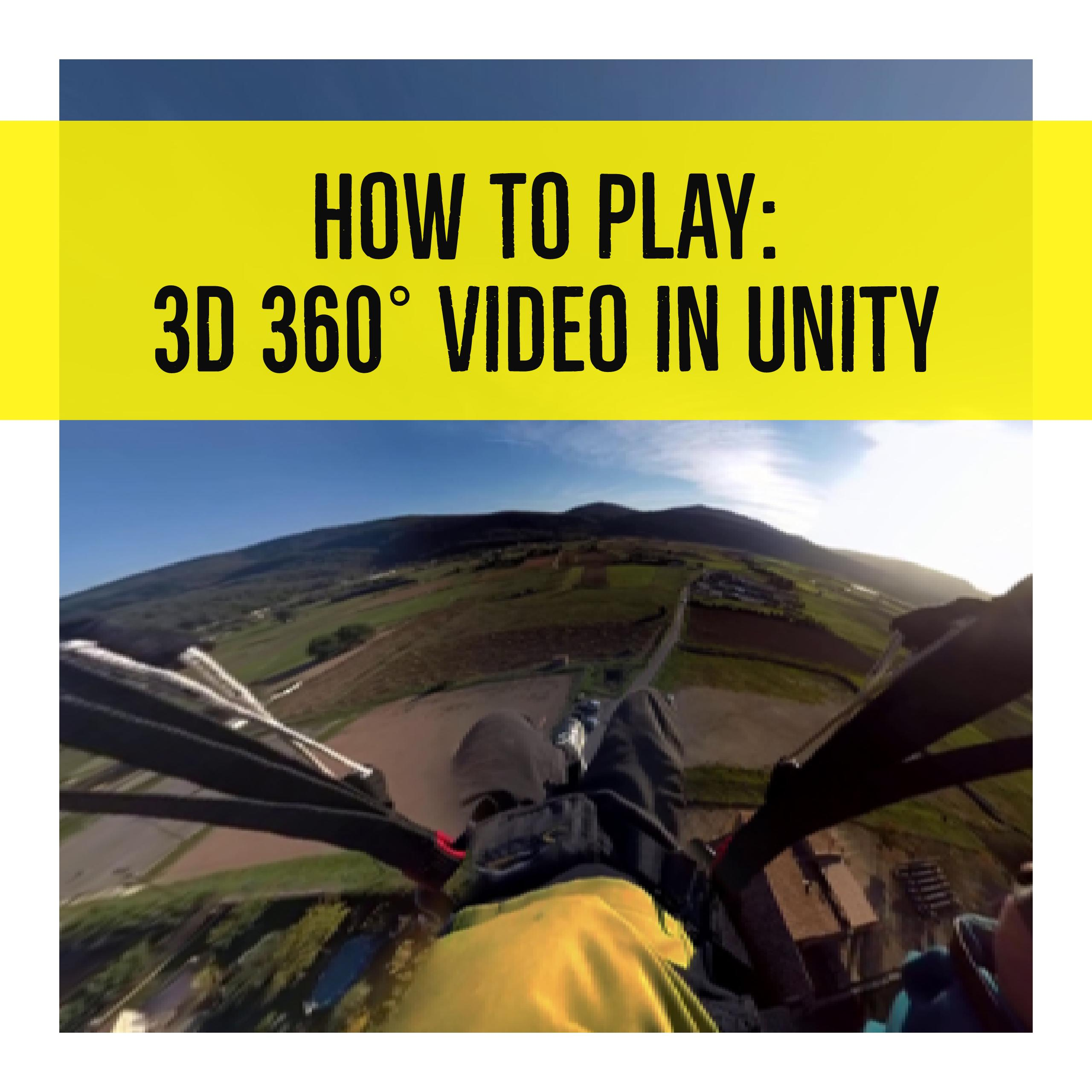 How to make 360 video in unity