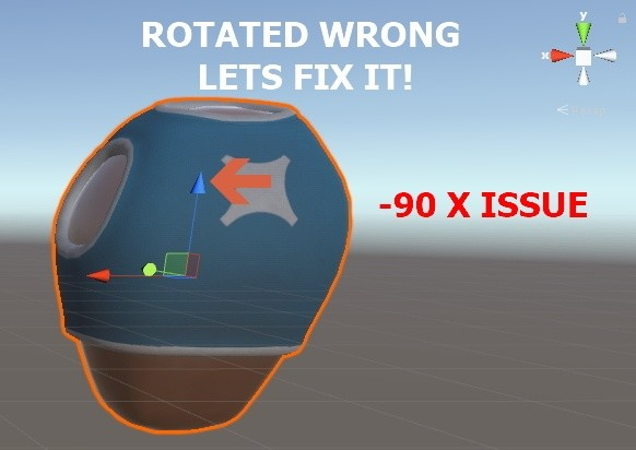 How To: Fix bad -90 x rotation in Unity3D with Blender - Unity3D College