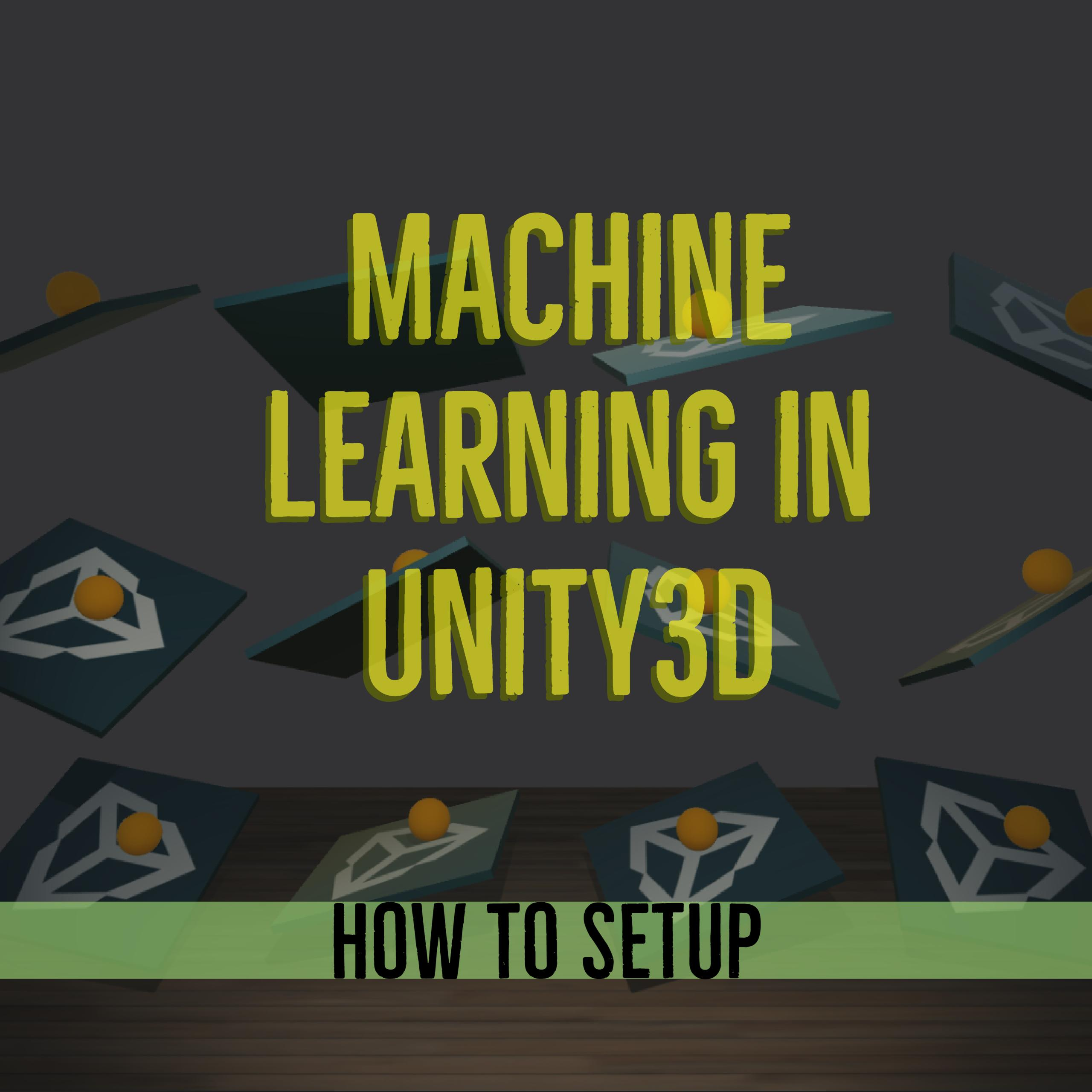 unity3d machine learning setting up the environment tensorflow